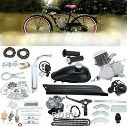 Silver 50cc 2-Stroke Cycle Motor Petrol Gas Engine Kit Motorized Bicycle Bike