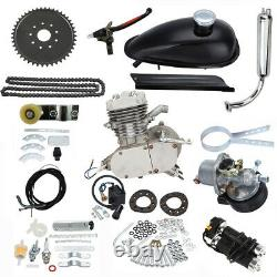 Silver 80cc 2-Stroke Engine Motor Kit for Motorized Bicycle Bike Gas Powered H/P
