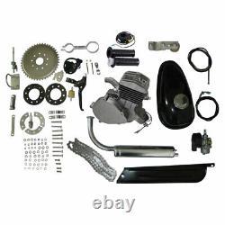 Silver Motorized Bike Petrol 80cc 2-Stroke Gas Bicycle Engine Cycle Motor Kit