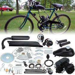Upgraded Black 2 Stroke 80cc Motorized Bicycle Cycle Bike Motor Gas Engine Kit