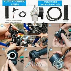 100cc 2-stroke Bicycle Engine Kit Gas Motorized Motor Bike Modified Full Set Nouveau