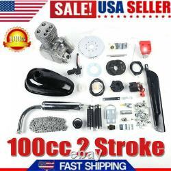 100cc Bike Bicycle Motorized 2 Stroke Petrol Gas Motor Engine Kit Black Us Stock