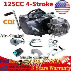 125cc 4stroke Moteur Full Kit Pour Honda Crf50 Crf70 Pit Bike Ct70 Air Cool