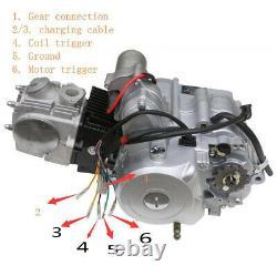 125cc Moteur Pièces Semi Auto 4 Attelage Inverser Vtt Quad Buggy Go Kart