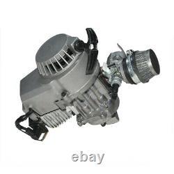 2 Course 43cc 49cc Engine Motor Kit + Silencieux + Réservoir D'essence Pour Mini Bike Dirt Bike