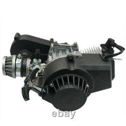 2 Course 47cc 49cc Engine Motor Kit + Exhaust + Fuel Tank Fr Scooter Pocket Bike