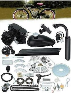 2 Course 50cc Bicycle Petrol Gas Motorized Engine Bike Motor Kit Set Black