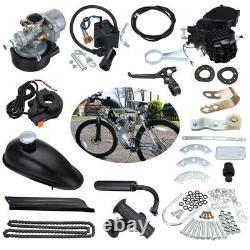 2 Course 80cc Bike Cycling Cycling Motorized Engine Motor Kit Muffler Essence Gas