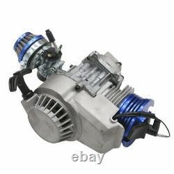 2 Course HP Racing 47 49cc Engine Motor Mini Quad Dirt Bike Atv Chain Grips