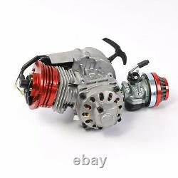 2 Stroke HP 50cc 49cc Motor Engine Kit Fr Mini Moto Rocket Pocket Bike Scooter