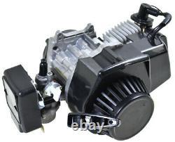 2 Temps 47cc 49cc Moteur Kit Moteur Silencieux Réservoir De Gaz Fr Mini Bike Scooter Gocart