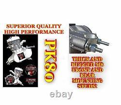 2 Temps Diy Le Plus De Puissance Pk80 66cc / 80cc Motorisé Vélo Kit Moteur