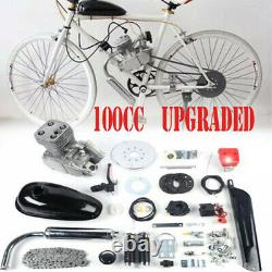 2-stroke 100cc Bike Motor Set Petrol Gas Motorized Bicycle Engine Kit Durable Us