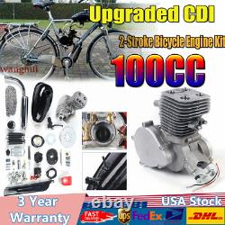 2-stroke 100cc Kit Moteur À Vélo À Gaz Motorized Motor Bicycle Modifié Ensemble Complet Us
