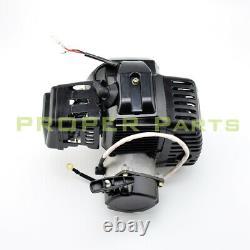 47 49cc 2stroke Electric Pull Start Engine Mini Pocket Scooter Chopper Dirt Bike