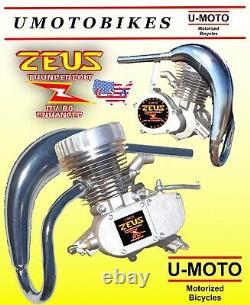 48cc 49cc 50cc 66cc 80cc 2 Temps Moteur De Vélo Motorisé Et Tuyau Pour Kits Puissance