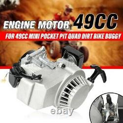 49cc 2-stroke Pull Démarrage Moteur Pocket Mini Dirt Vélo Vtt Scooter & Pit