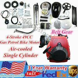 49cc 4 Stroke Gas Motorized Bike Engine Diy Bicycle Petrol Motor Kit Belt Drive