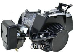 49cc 50cc 2 Stroke Engine Motor Kit Exhaust For Pocket Bike Dirt Rocket Razor