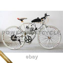 80cc 2 Stroke Cycle Bicycle Motorized Motorized Engine Kit Silver Pipe Bady