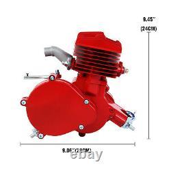 80cc 2 Stroke Cycle Motor Kit Motorized Bike Petrol Gas Bicycle Red Engine