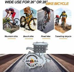 80cc 2 Temps Vélo À Vélo Motorisé Moteur Vélo Kit Moteur Essence Gaz Argent