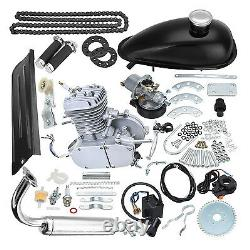 80cc 2-stroke Engine Motor Kit For Motorized Bicycle Bike Gas Powered Black États-unis