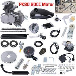 80cc 2-stroke Moteur Kit Gaz Pour Vélo Motorisé Cycle Bricolage