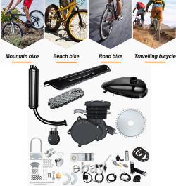 80cc Bicycle 2 Stroke Bicycle Motorized Essence Moteur Kit Complet Black