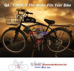 80cc Bicycle Electric Start Motorized 2 Stroke Essence Moteur Moteur Kit De Vélo