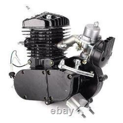 80cc Bicycle Motor Kit Bike Motorized 2 Stroke Petrol Gas Engine Set Black États-unis