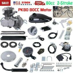 80cc Bike Bicycle 2 Stroke Motorized Petrol Gas Motor Engine Kit Set Nouveau