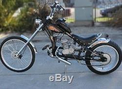 80cc Cycle 2 Temps Vélo Moteur Kit Gaz Essence Moteur Pour Bicyclette Motorisée Silve