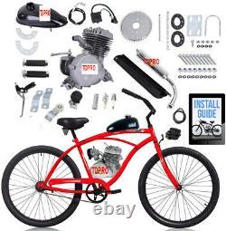 80cc Motorisé 2-temps De Mise À Niveau Vélo Kit De Conversion Bricolage Gaz Moteur Vélos À Moteur
