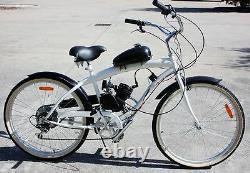 80cc Vélo Vélo Motorisé 2-stroke Essence Moteur Moteur Kit Silver Nouveau