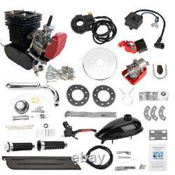 Black 2-stroke110cc Bicycle Motor Kit Bicycle Motorized Petrol Gas Engine Set