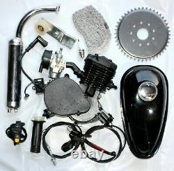 Black 80cc 2 Coups Motorisé Moteur Moteur Moteur Motorisé Push Vélo