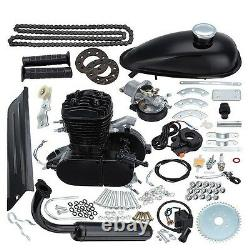 Black Universal Bike 2 Stroke Gas Engine Motor Kit Diy Motorized Bicycle 80cc