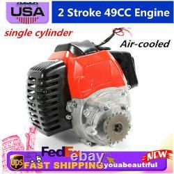 Cylindre Monocylindre 49cc 2-stroke Engine S'adapte À L'essence Scooters / Moteur De Vélo De Poche