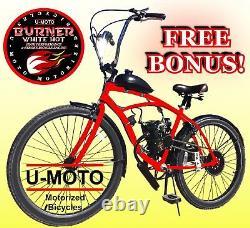 Diy 2 Temps 66cc/80cc Motorized Bike Engine Kit Avec 26 Beach Cruiser Bike