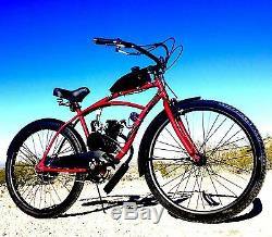 Diy 2-stroke 66cc / 80cc Motorized Kit Bike Moteur Avec 26 Bike