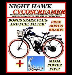 Diy Power 2-stroke 66cc/80cc Motorized Bike Engine Kit Motor Kit Avec 26 Vélo