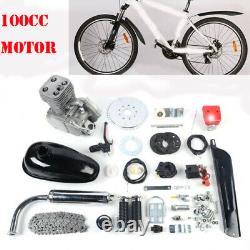 Ensemble Complet 100cc Bicycle Motorized 2-stroke Gas Petrol Bike Motor Kit