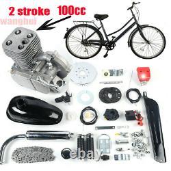 Ensemble Complet 100cc Bicycle Motorized 2-stroke Gas Petrol Moteur De Vélo Kit CDI