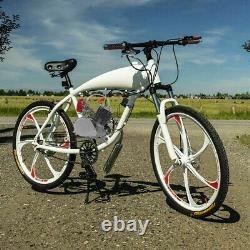 Ensemble Complet 100cc Bike Bicycle Motorized 2 Stroke Petrol Gas Motor Engine Kits Nouveau