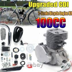 Ensemble Complet 100cc Kit Moteur De Vélo 2 Temps Gaz Motorized Motor Bike Set Modifié