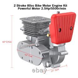 Ensemble Complet 100cc Motorized Bicycle Bike Engine Motor Kit Gas Powered 2-stroke Us