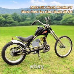 Ensemble Complet 100cc Vélo Motorisé 2-stroke Gaz Essence Moteur Moteur De Vélo Nouveau