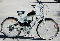 Ensemble Complet 80cc 2 Stroke Gaz Essence Moteur De Vélo Kit Moteur Bricolage Vélo Motorisé Us