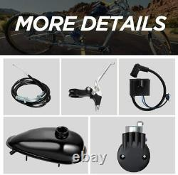 Ensemble Complet 80cc Bike Bicycle Motorized 2 Stroke Petrol Gas Motor Engine Kit Argent